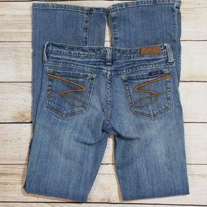 Seven7 Blue Boot Cut Flare Denim Jeans
